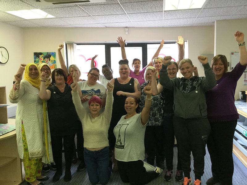 Inspire Women Oldham group picture for about us page